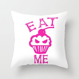 Eat Me (Magenta Version) Throw Pillow
