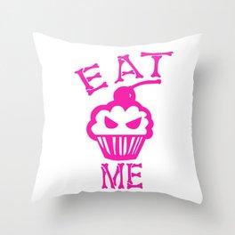 Eat Me (Magenta Version) Throw Pillow