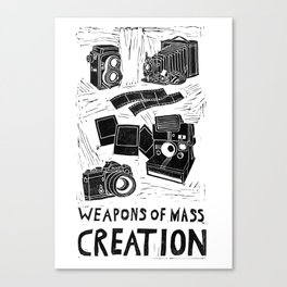 Weapons Of Mass Creation - Photography (blockprint) Canvas Print