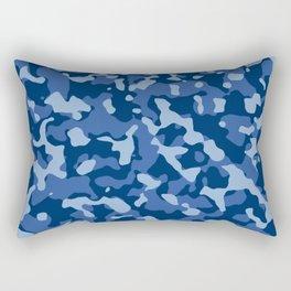 Camouflage Blue Rectangular Pillow