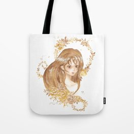 Golden Flora Tote Bag