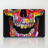 john iPad Cases featuring Chromatic Skull by John Filipe