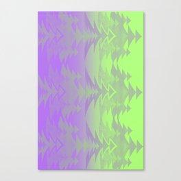 Pattern violet green Canvas Print