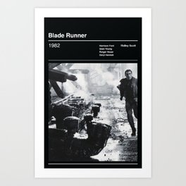 Blade Runner Black & White Art Print