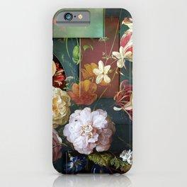 Midnight Geometric Flowers iPhone Case