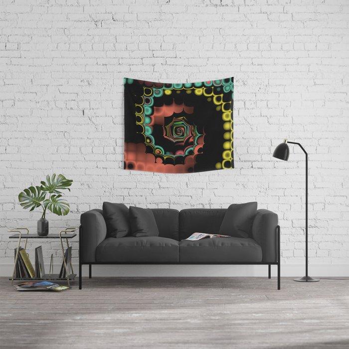 Fall TGS Fractal Abstract Wall Tapestry
