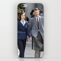 peggy carter iPhone & iPod Skins featuring Jack Thompson & Peggy Carter - Agent Carter. by agentcarter23