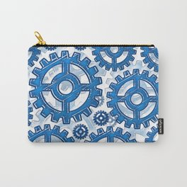 Blue gear wheels Carry-All Pouch