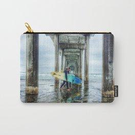 Surfers, La Jolla Shores Pier, San Diego, California. Carry-All Pouch