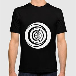 Black White Circles Optical Illusion T-shirt