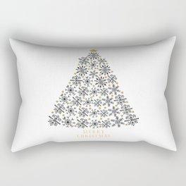 Snowflakes Tree (black gold) Rectangular Pillow