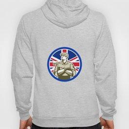 British Builder Union Jack Flag Icon Hoody