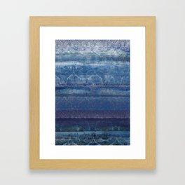 Textural Blue Framed Art Print