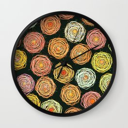 Strings of Neon Wall Clock