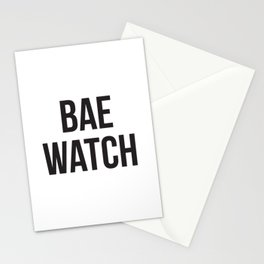 Bae Watch Stationery Cards