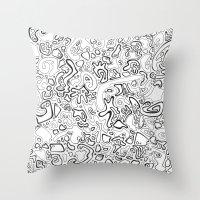 acid Throw Pillows featuring Acid by Danielle Quackenbush