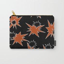 Stars (Orange & Black on Black) Carry-All Pouch