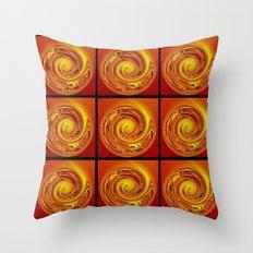 Abstract Collage Orange Art. Throw Pillow