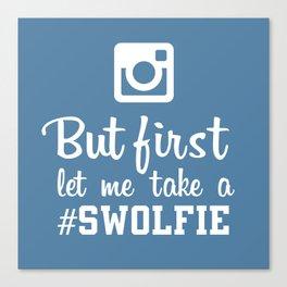 #swolfie Canvas Print