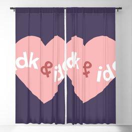 idk & idc Blackout Curtain