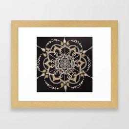 Silver & Gold Framed Art Print