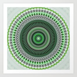 Bright Green Mandala Design Art Print