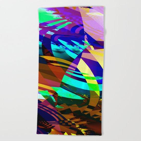 vampire colors Beach Towel