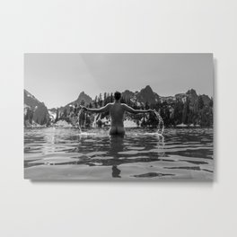 Wilderness Bath Metal Print