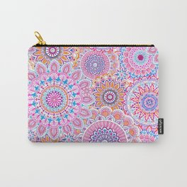 Mandala Maze Pink Carry-All Pouch