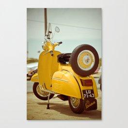 Yellow Vespa Canvas Print
