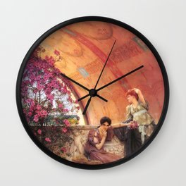 Unconscious Rivals 1893 by Sir Lawrence Alma Tadema | Reproduction Wall Clock