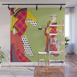 Japanese Bijin in a modern kimono Wall Mural