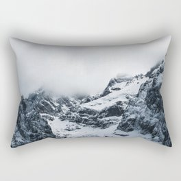 Majestic mountains under the clouds Rectangular Pillow