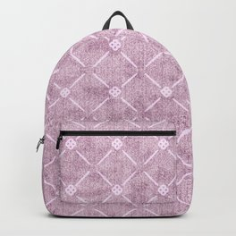 Faux Velvet Dusty Mauve Light Diamond Pattern Backpack