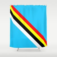 rave Shower Curtains featuring Rave by Naked N Pieces