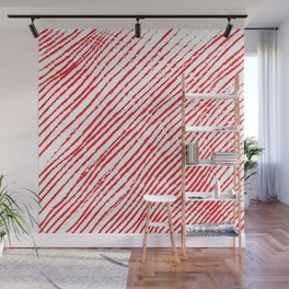 Candy Cane (The raw version) - Christmas Illustration Wall Mural
