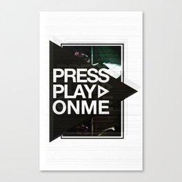 Pressplayonme #2  Canvas Print