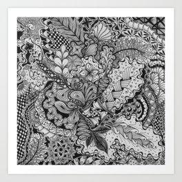 Zentangle®-Inspired Art - ZIA 79 Art Print