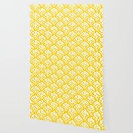 Calla Lily Pattern Yellow Wallpaper