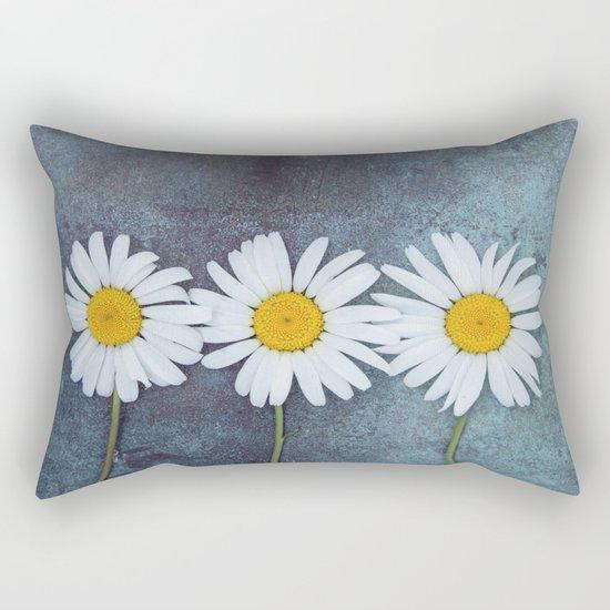 Three marguerites Rectangular Pillow