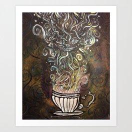 Chesire Coffee Art Print