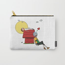 Rick and Mort into Snoopy world Carry-All Pouch