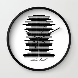 Wooden Heart Wall Clock