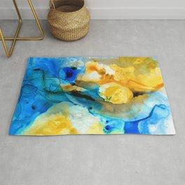 Iced Lemon Drop - Abstract Art By Sharon Cummings Rug