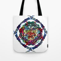 shield Tote Bags featuring SHIELD by Paix Vivante