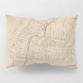 Vintage Map of Hartford CT  in 1640 (1890) Pillow Sham