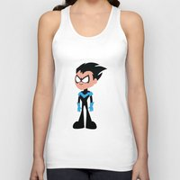 nightwing Tank Tops featuring Nightwing by Adrian Mentus