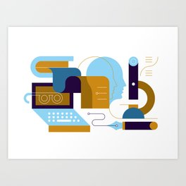 Research Art Print