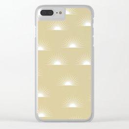 sun pattern Clear iPhone Case