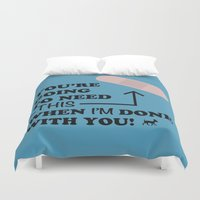 sassy Duvet Covers featuring sassy chihuahua by 2hootsdesign